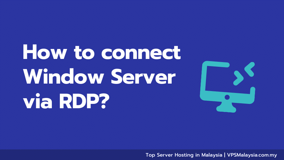 Feature image of how to connect window server via rdp