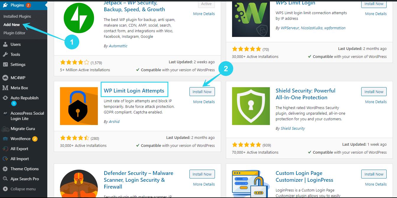 Steps on how to set wp login