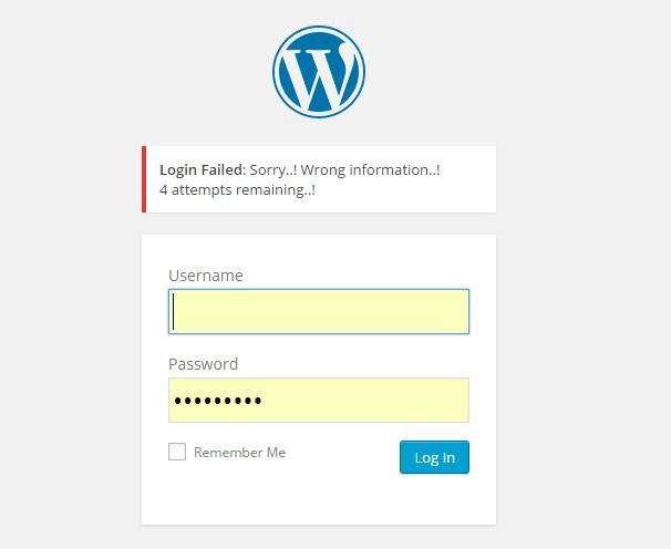 Wordpress login with suername and password