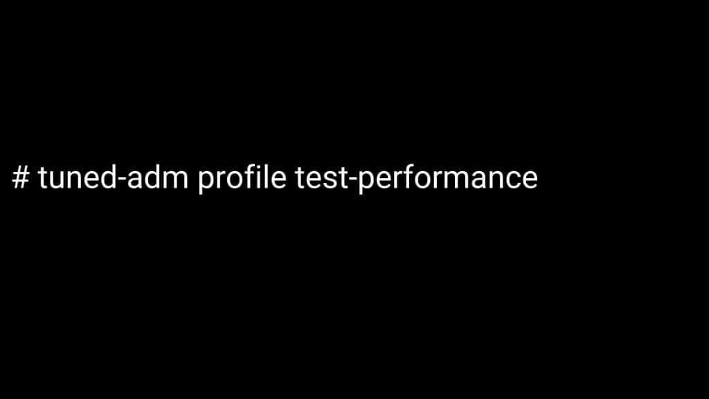 Tuned-adm profile